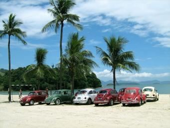Praia do Anil. Encontro de fusca- A. Reis-RJ.